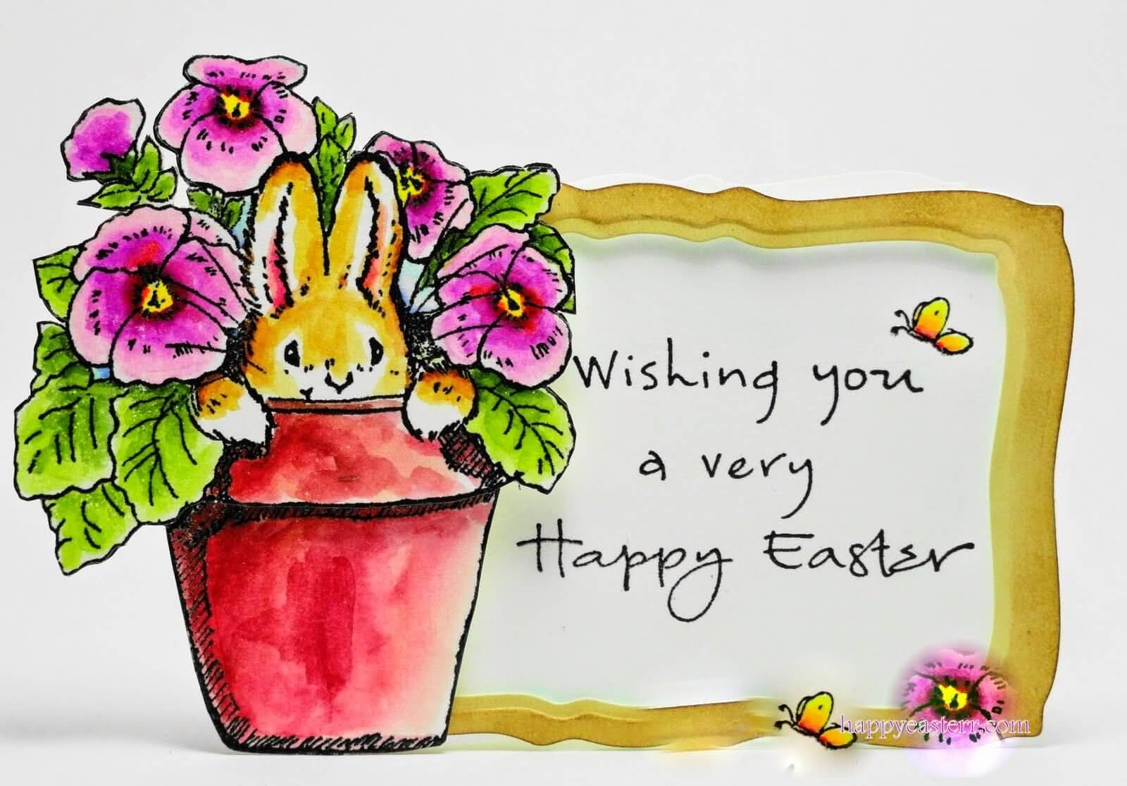 Wishing You A Very Happy Easter Greeting Card