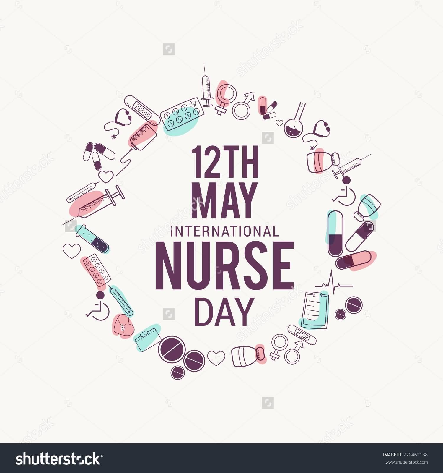 12th May International Nurse Day Illustration