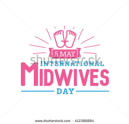 5 May International Midwives Day Baby Feet Illustration