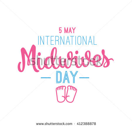 5 May International Midwives Day Baby Foot Prints Illustration