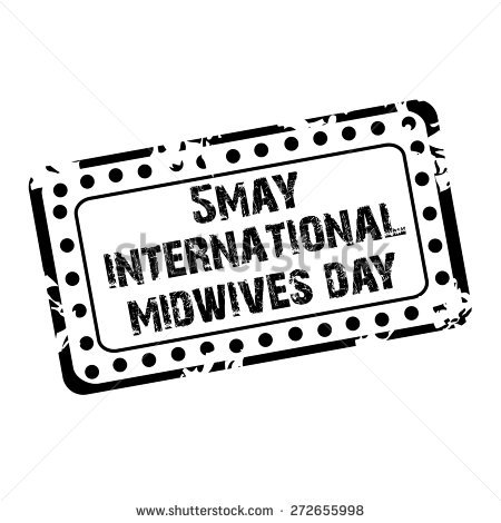 5 May International Midwives Day Black Grungy Stamp
