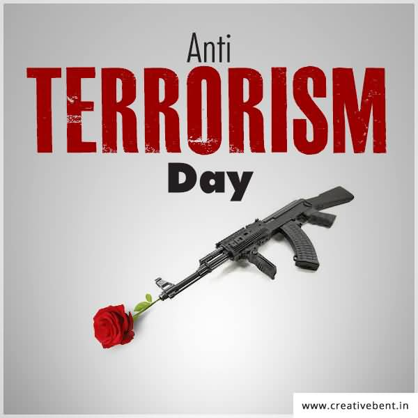Anti Terrorism Day Gun With Flower