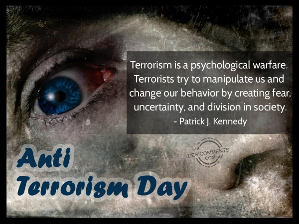 Anti Terrorism Day Quote