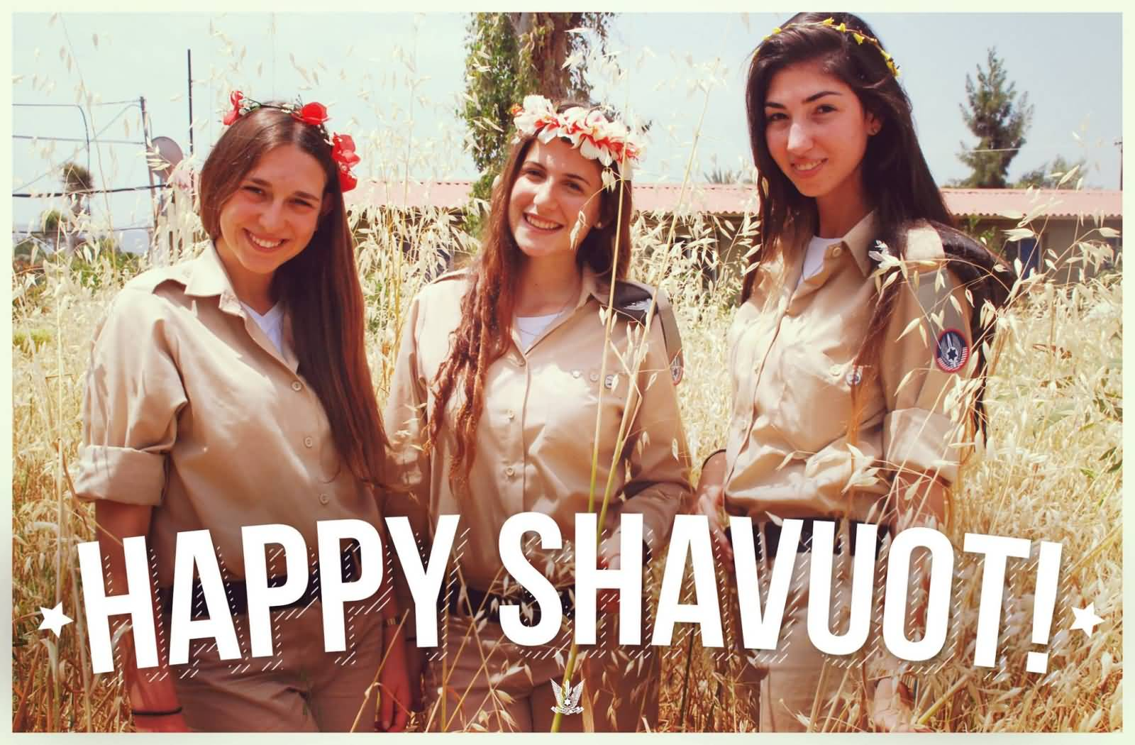 Beautiful Jewish Girls Wishing You Happy Shavuot