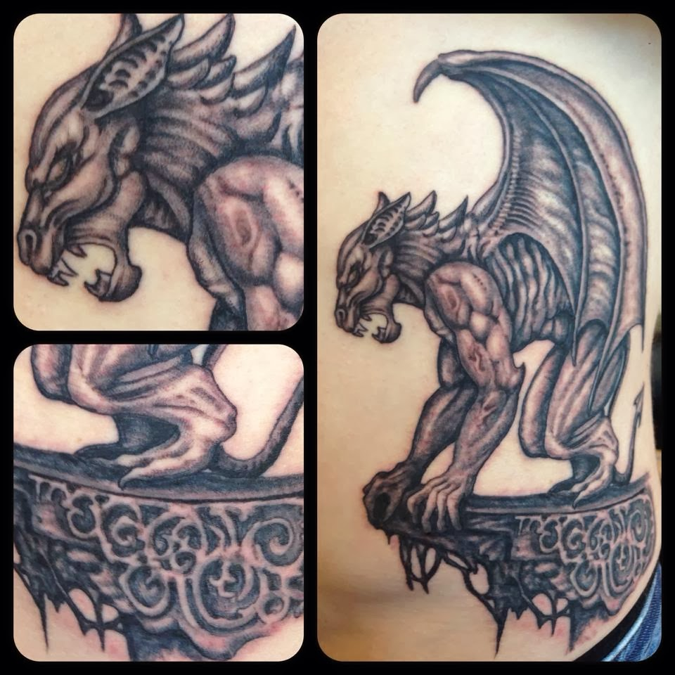 55 best gargoyle tattoos design and ideas. Black Bedroom Furniture Sets. Home Design Ideas