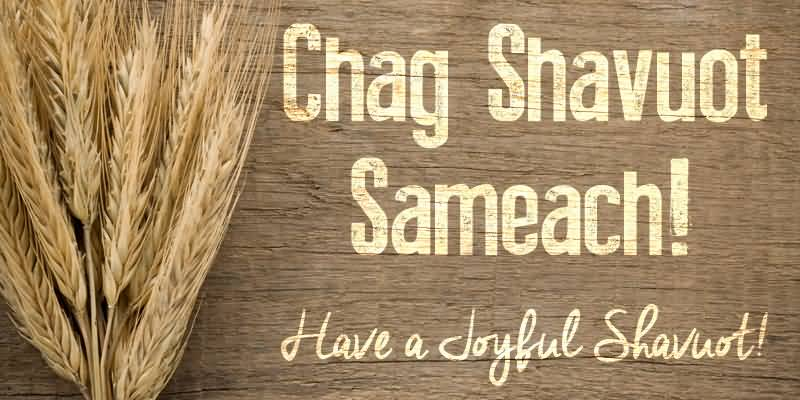 Chag Shavuot Sameach Have A Joyful Shavuot