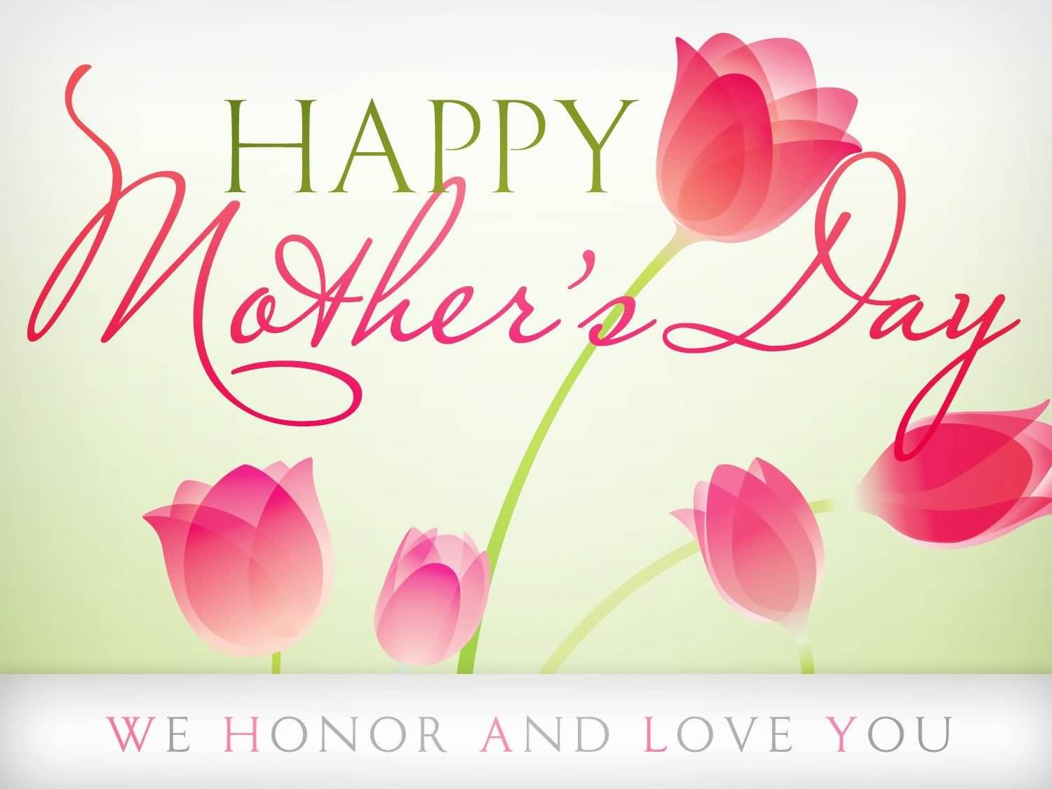 Happy Mothers Day We Honor And Love You Greeting Card