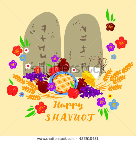 Happy Shavuot Fruits And Flowers