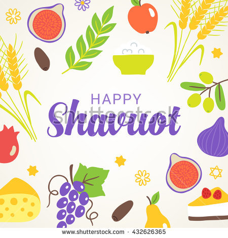 Happy Shavuot Fruits Card