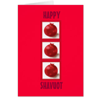 Happy Shavuot Pomegranate Card