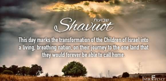 Happy Shavuot This Day Marks The Transformation Of The Children Of Israel Into A Living, Breathing Nation On Their Journey To The One Land That They Would Forever Be Able To Call Home