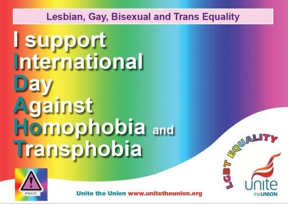 I Support International Day Against Homophobia and Transphobia
