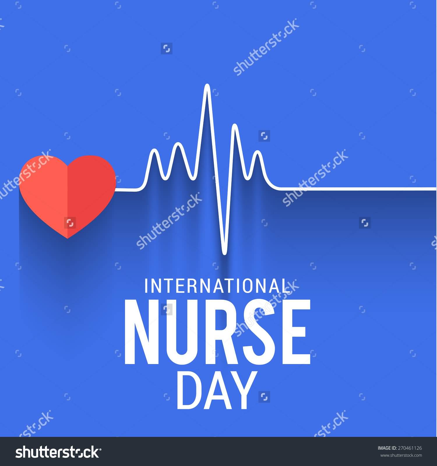 50 best international nurses day 2017 pictures and images international nurses day heart beat illustration m4hsunfo Choice Image