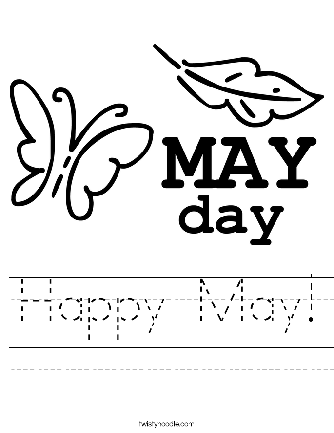 welcome may coloring page twisty noodle may day coloring page