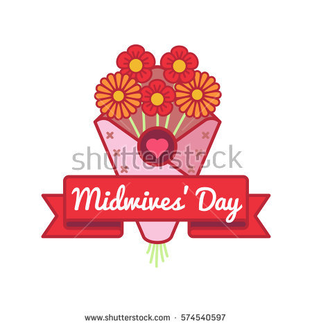 Midwives Day Greetings Flower Bouquet