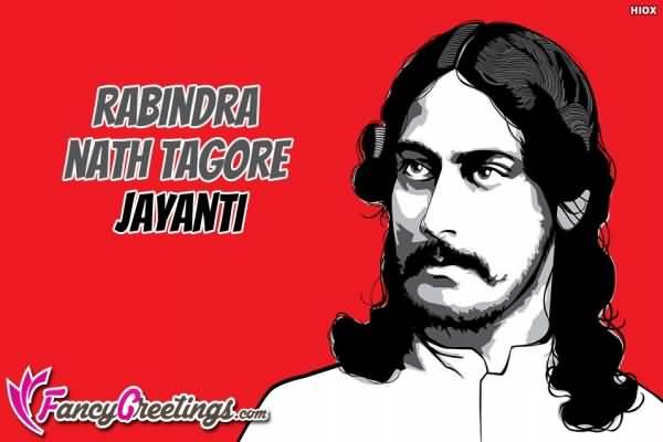 Rabindranath Tagore Jayanti Greeting Card