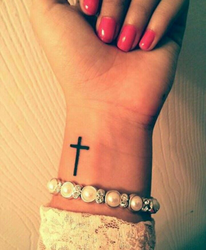 silhouette cross tattoo on girl left wrist rh askideas com Wrist Tattoo Quotes Wrist Tattoo Quotes