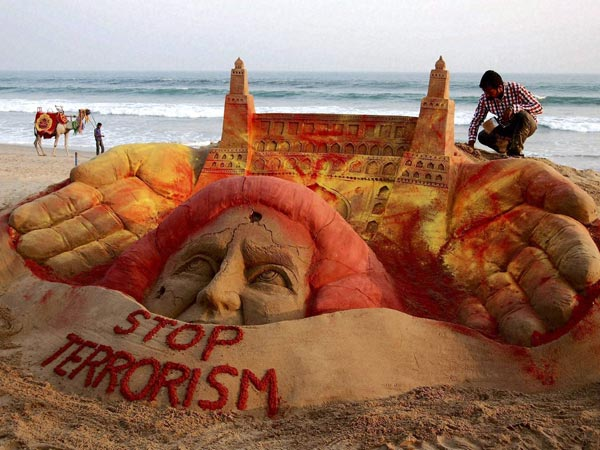 Stop Terrorism Sand Art Anti Terrorism Day