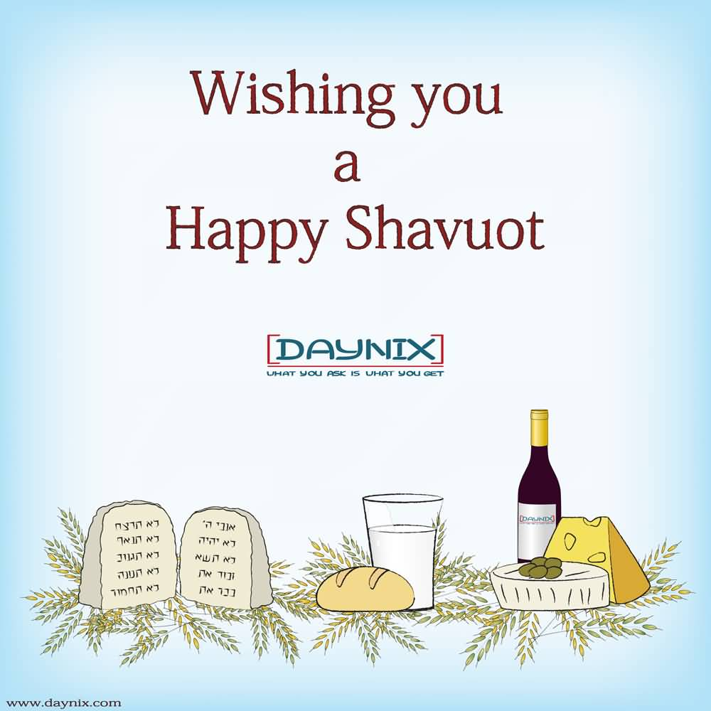 Wishing You A Happy Shavuot Card
