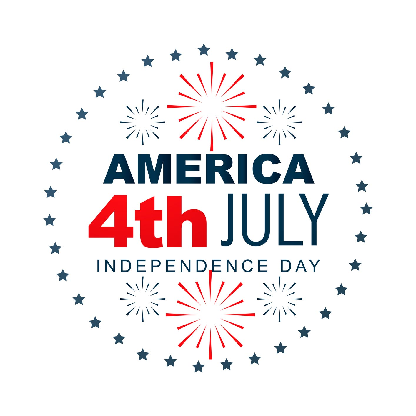 America 4th July Independence Day Greeting