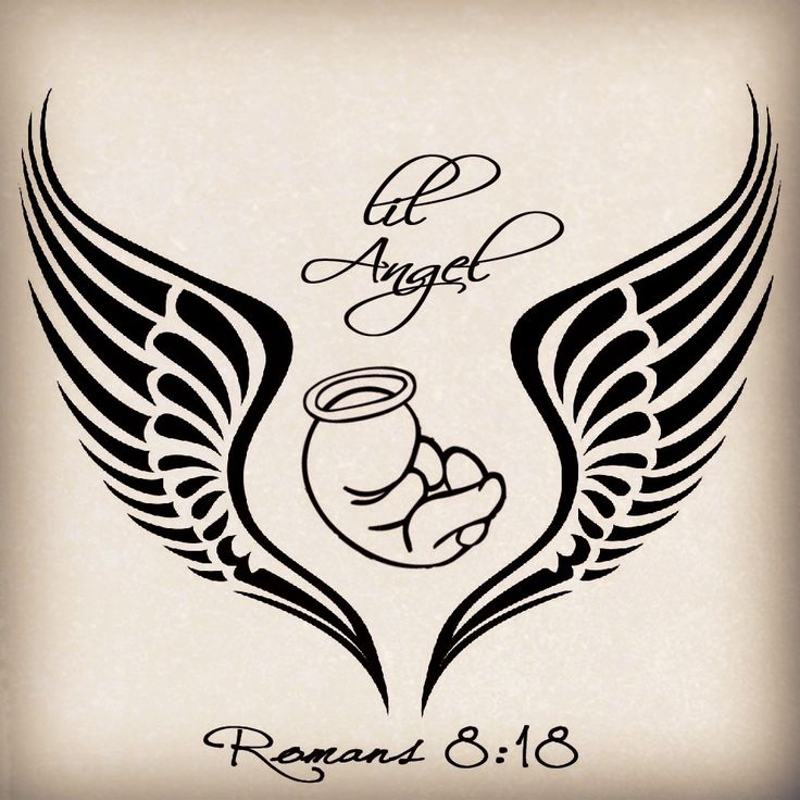 55 miscarriage baby angel tattoos ideas. Black Bedroom Furniture Sets. Home Design Ideas