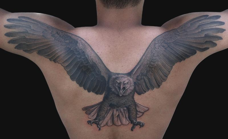 50 Eagle Tattoos For Back With Meanings