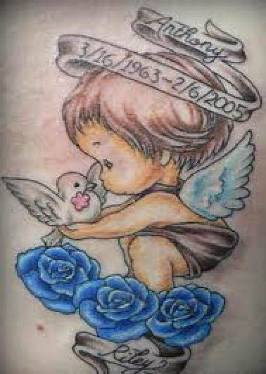 Anthony - Memorial baby angel tattoo design