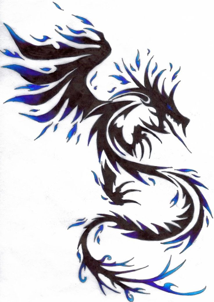 60 popular dragon tattoos with meanings for Black tribal tattoo ink
