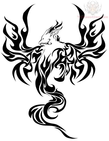 31 nice phoenix tattoos designs and pictures ideas. Black Bedroom Furniture Sets. Home Design Ideas