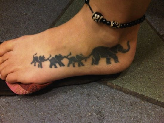 39 latest elephant tattoos collection for Elephant foot tattoo