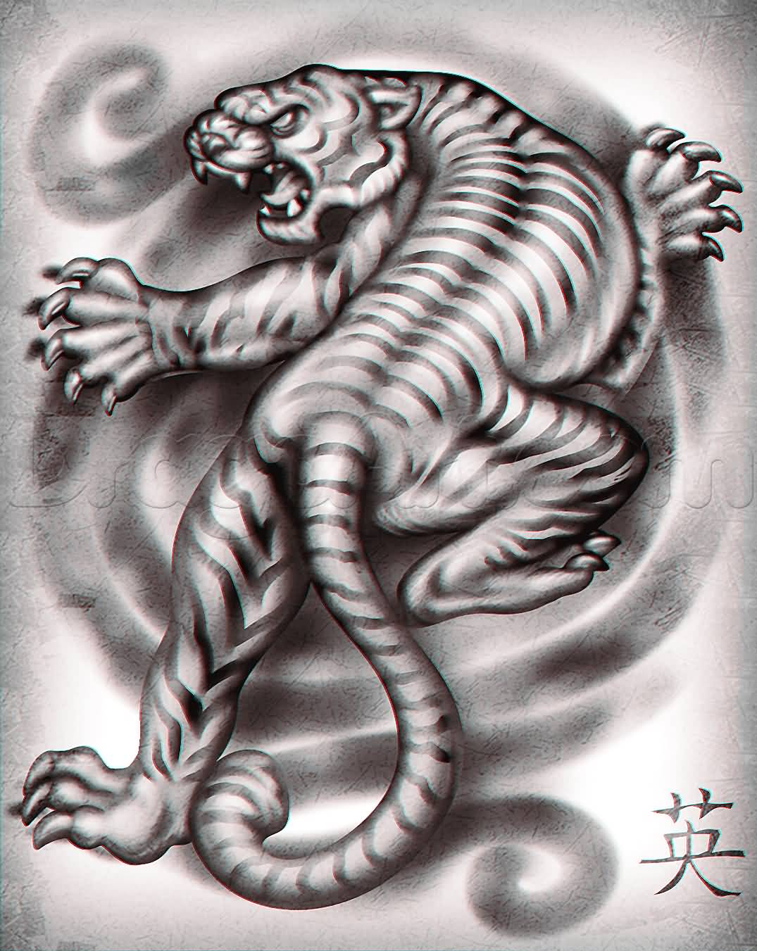 Chinese Tiger Tattoo Design