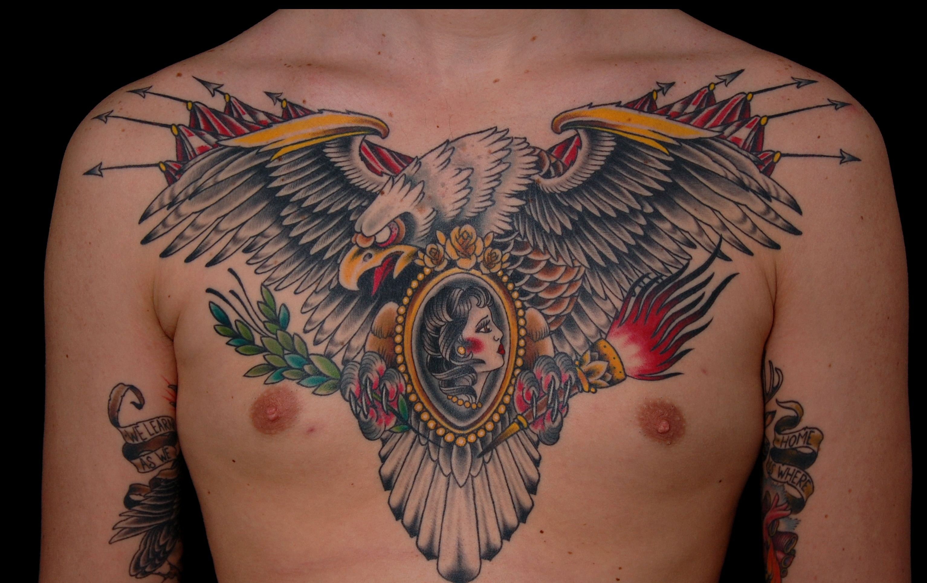 50 Popular Eagle Chest Tattoos Ideas With Meanings