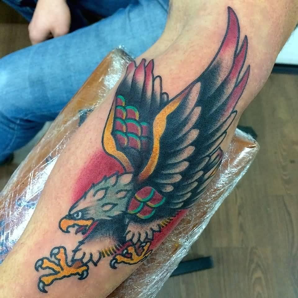 Eagle Tattoo On Forearm by Fabio Onorini