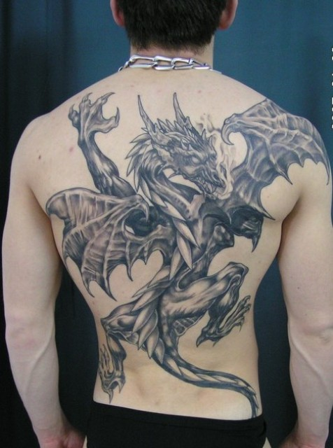 40 dragon back tattoos with meanings for Dragon back tattoo