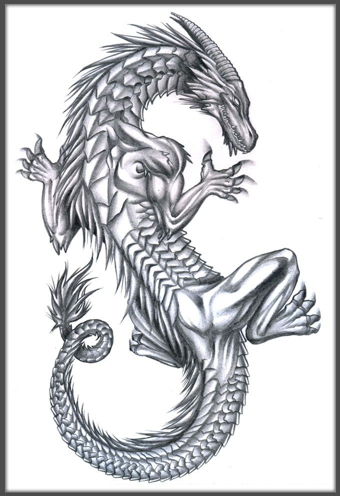 60 popular dragon tattoos with meanings. Black Bedroom Furniture Sets. Home Design Ideas