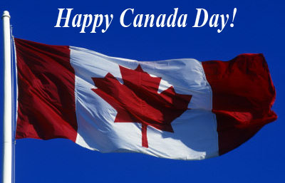 Happy Canada Day Flying Flag Picture