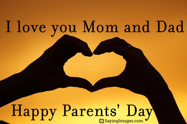 I Love You Mom Dad Happy Parents Day