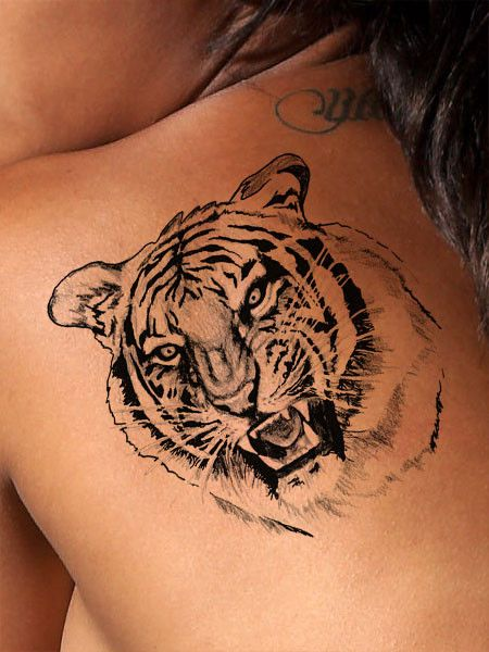 50 popular tiger tattoos collection with meanings. Black Bedroom Furniture Sets. Home Design Ideas