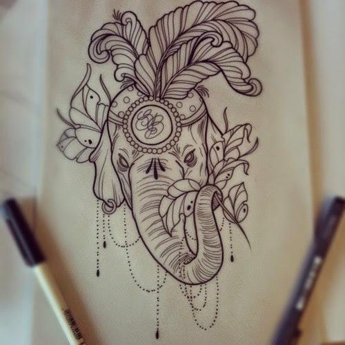 mandala elephant head tattoo design. Black Bedroom Furniture Sets. Home Design Ideas