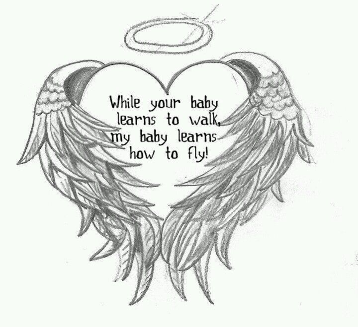 55 Miscarriage Baby Angel Tattoos Ideas