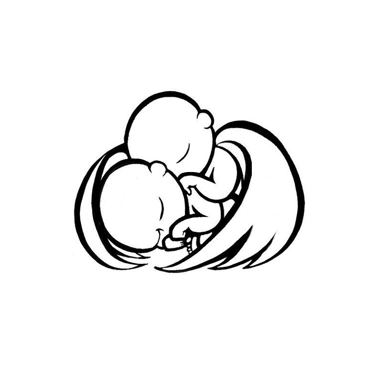 Miscarriage twins tattoo design twin angel babies sleeping