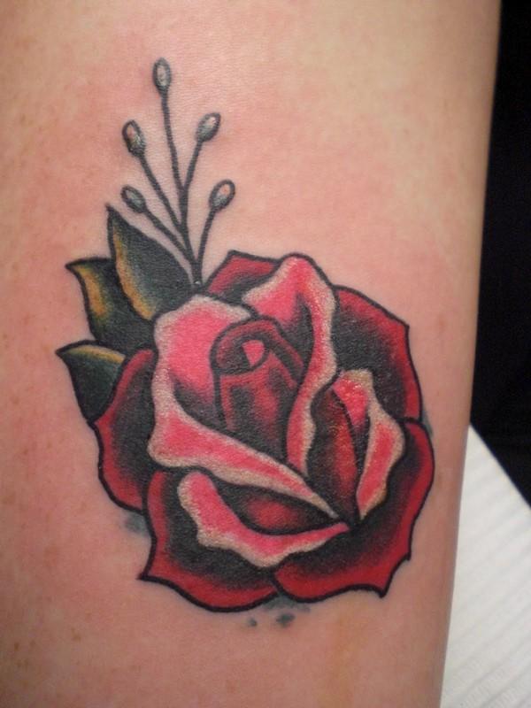 Nice Small Rose Tattoo