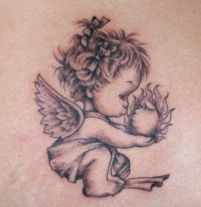 55 Baby Angel Tattoos Designs With Meanings