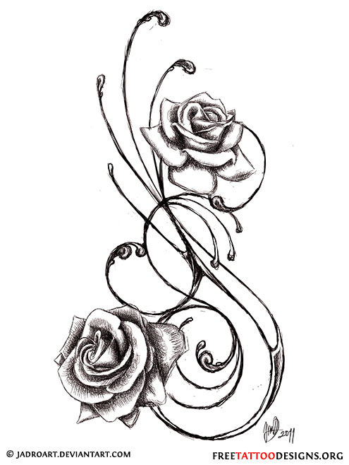 Swirly black and grey roses tattoo design urmus Image collections
