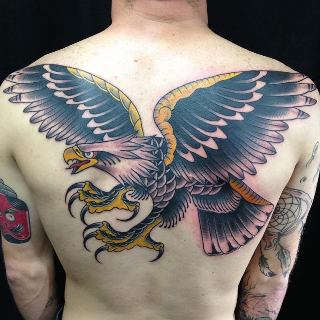 Eagle skeleton tattoo