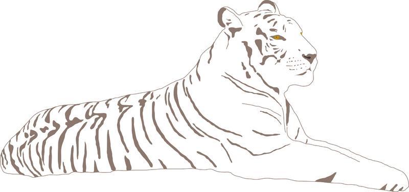 Yellow Eye Nice Tiger Tattoo Design