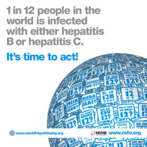 1 In 12 People In The World Is Infected With Either Hepatitis B Or Hepatitis C - Its Time To Act