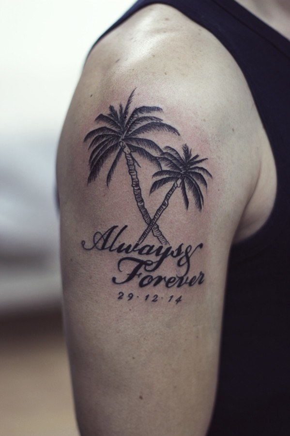 75 beautiful palm tree tattoos with meanings rh askideas com palm trees tattoo tumblr palm trees tattoo tumblr