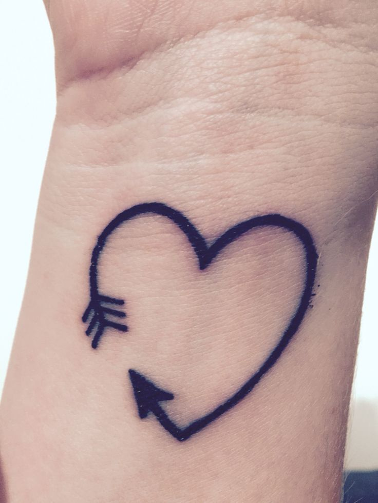 Three Colorful Heart Tattoo On Wrist By Keith