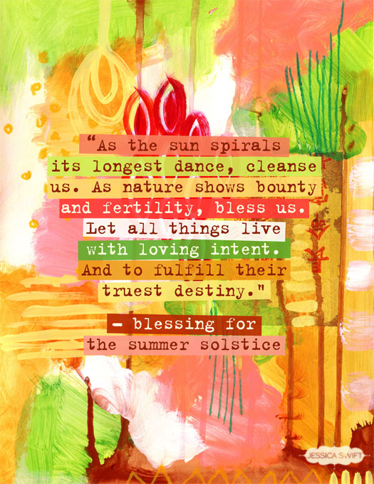 Ordinaire As The Sun Spirals Its Longest Dance, Cleanse Us   Blessing For The Summer  Solstice